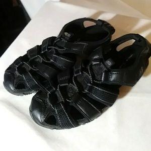Skechers black sneaker like sandal